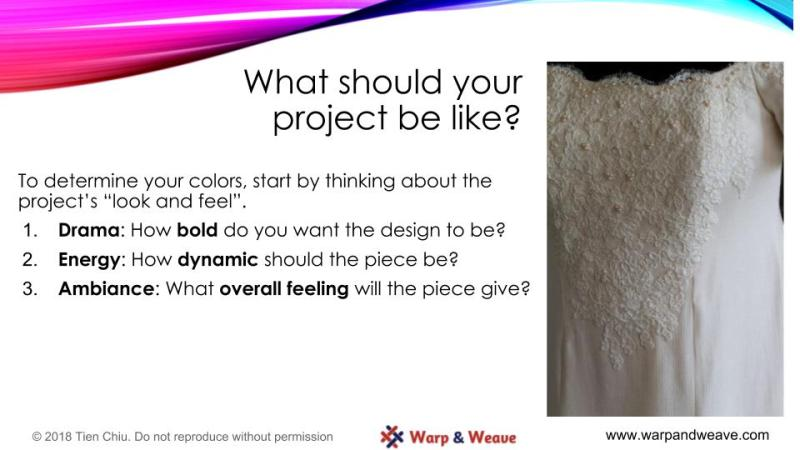Designing with Color - design process slide #2