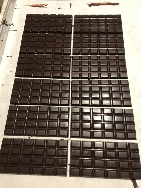 Finished chocolate bars