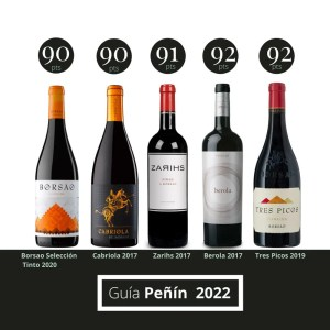 Te proponemos probar todos los vinos puntuados por encima de 90 puntos en la Guía Peñín 2022