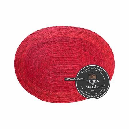 Mantel de Palma Color Rojo arriba en Tienda de Canastas