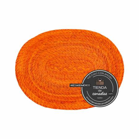 Mantel de Palma Color Naranja arriba en Tienda de Canastas