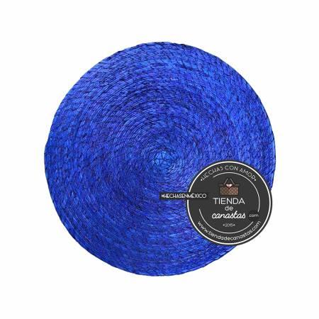 Mantel de Palma Redondo Color Azul en Tienda de Canastas