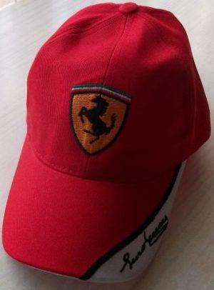 Gorra Ferrari Diseño Exclusivo Piero Ferrari Negra/roja