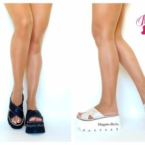 Sandalias Mujer Plataforma Flecos Ultra Liviana Verano 2017