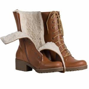 Borcego Mujer Corderito Botas Zapatos Almacen De Cueros