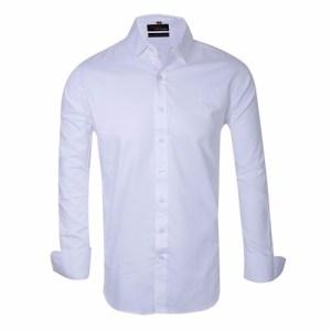 Camisa Entallada Lisa De Vestir - Quality Import Usa