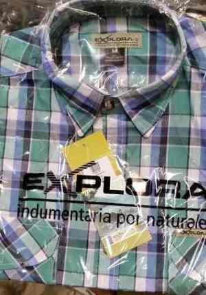 Camisa Explora Dos Bolsillos 100 % Algodón. Modelo Paraná