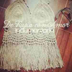 Crop Top Crochet Bikini Talles 1 2 Y 3 Hechos A Mano Croptop