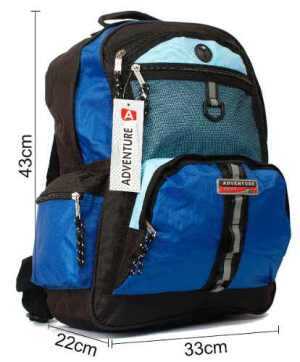 Mochila Sport Azul Negra Cos8007 17 Pulgadas Distri Zetateam