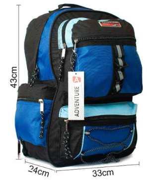 Mochila Sport Negra Azul Cos8004 17 Pulgadas Distri Zetateam