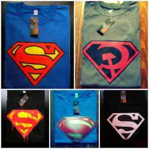 Remeras Superman Estampado Transfer Superboy Bizarro Comics