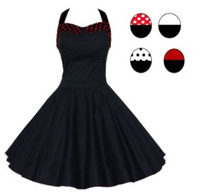 Vestido Vintage Pin Up Tatoo Rockabilly Vintage 50s