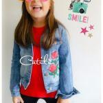 Campera Nenas Jeans Nevada Parche Elastizada Catilu T4 Al 14
