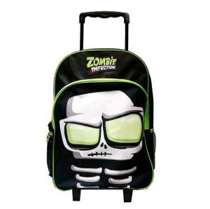 Zombie Infection Mochila Escolar 17 Carro Brilla Hueso T17d