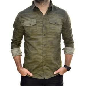 Camisa Verde Militar Camuflada Hombre The Big Shop