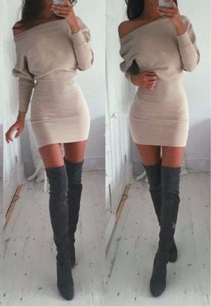 Vestido – Corto- Modal Con Lycra – Invierno- Mangas Largas