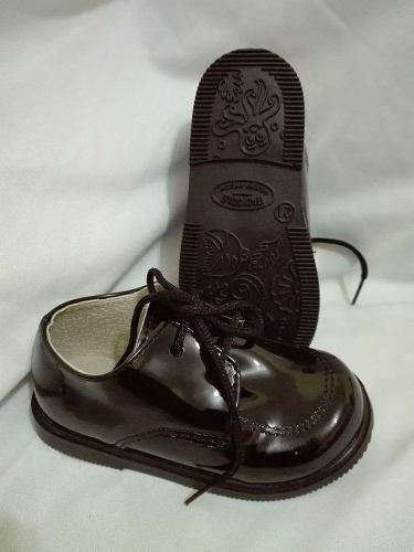 58d12b3da6387 Zapato Bautismo fiesta comunion  – Bebe-niño C cordón Negro ...