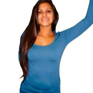 Camiseta Basica De Mujer De Modal Con Lycra