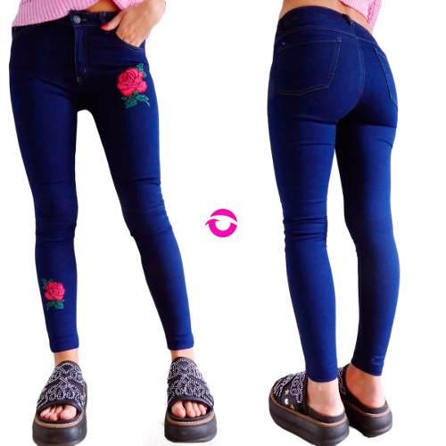 d4242c2b000a Jeans Mujer Tiro Alto Elastizado Chupin Roto Roturas Negro