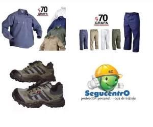 Kit Camisa Y Pantalon Grafa 70 +zapatilla Trabajo Segucentro
