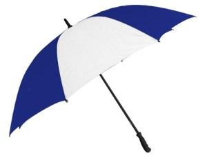 Paraguas Grande Azul Francia Y Blanco 130cm Diam