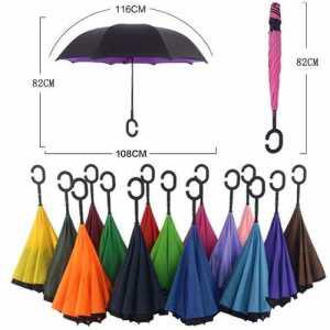 Paraguas Invertido Reversible Original Reforzado Colores Uv