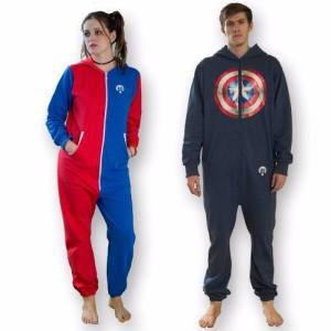 Pijama Batman Superman Harley Quinn Capitán América Unisex