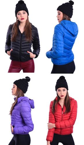 Campera Inflable Corta Impermeable Abrigada Nofret