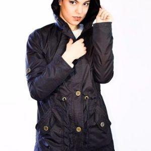 Hermoso Piloto Trench Rompevientos Impermeable Negro M A 3xl