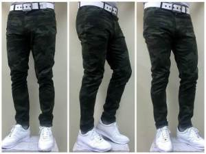 Pantalon De Gabardina Camuflado
