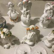 Angelitos Querubines con flores