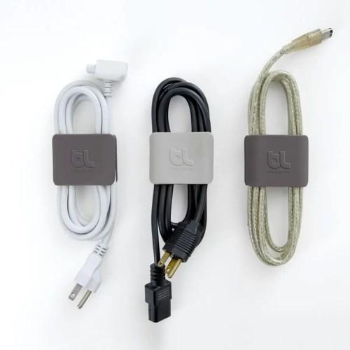 Cable clip grande (pack 2 gris/gris)