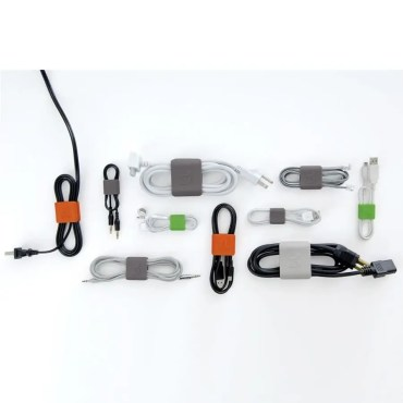 Cable clip pequeño (pack 6 verde/gris)