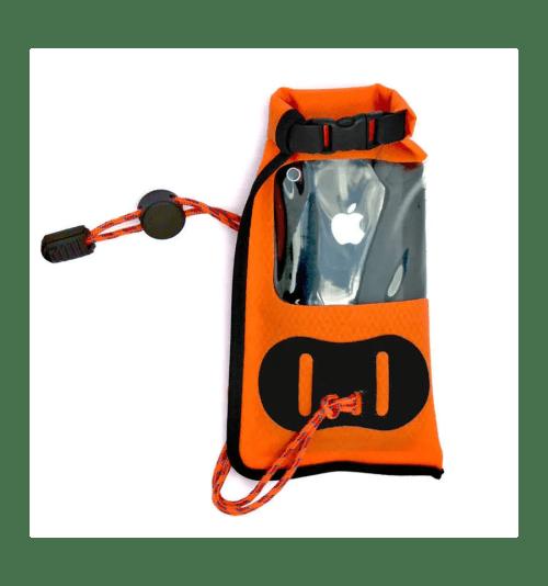 Funda Aquapac 034 IPX5 para móvil y GPS mini naranja