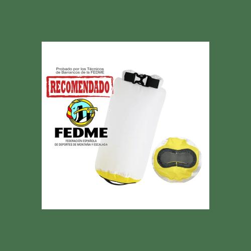 Bolsa auxiliar packdivider Aquapac 002 IPX6 de 2l blanco/amarillo