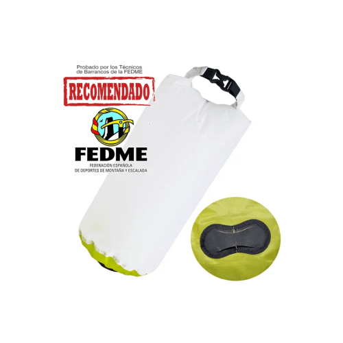 Bolsa auxiliar packdivider Aquapac 008 IPX6 de 8l blanco/verde