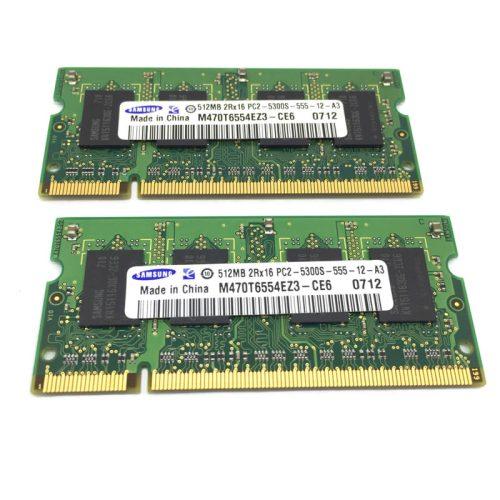 Módulo de memoria Samsung SO-DIMM DDR2 512MB 667 Mhz