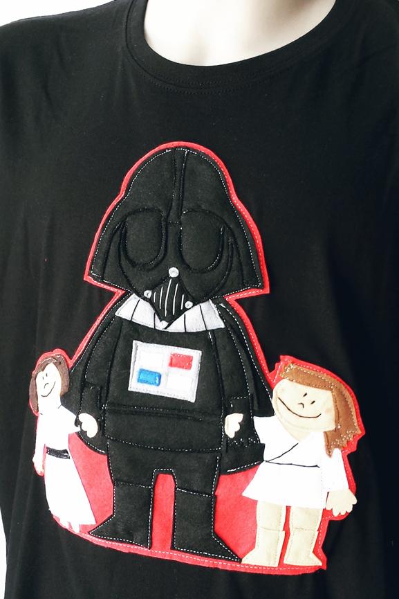 camiseta Darth Vader e hijos