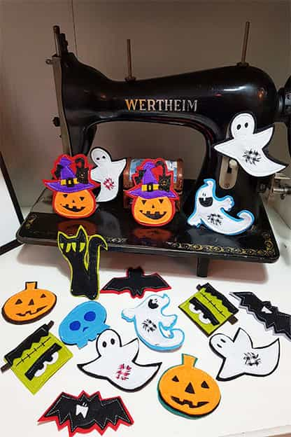 Broches de fieltro Halloween
