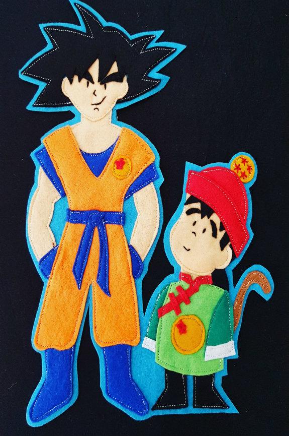 Camiseta Goku e hijo