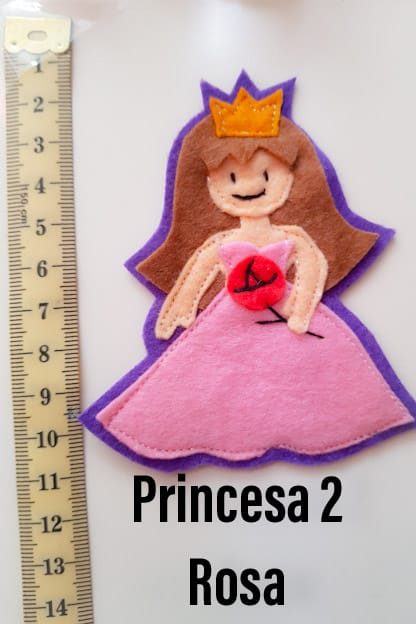 broche princesa 2 rosa
