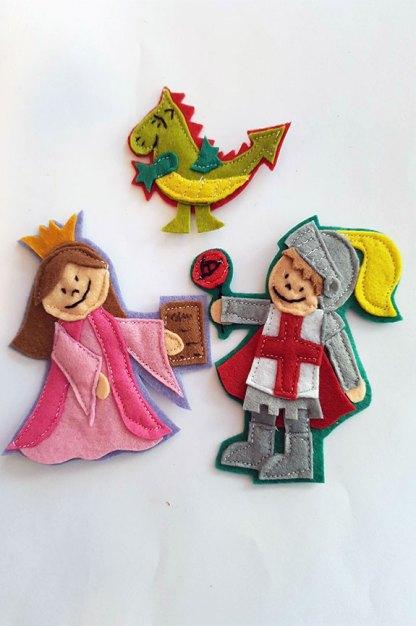 broches de Sant Jordi, la Princesa y el dragon
