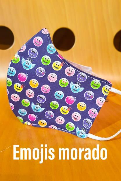 Mascarilla Emojis morado
