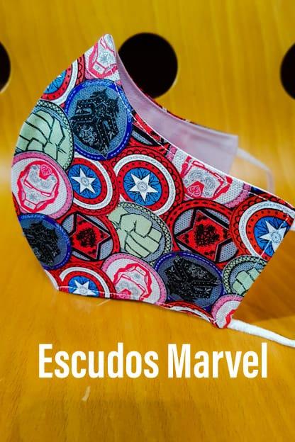 Mascarilla Escudos Marvel