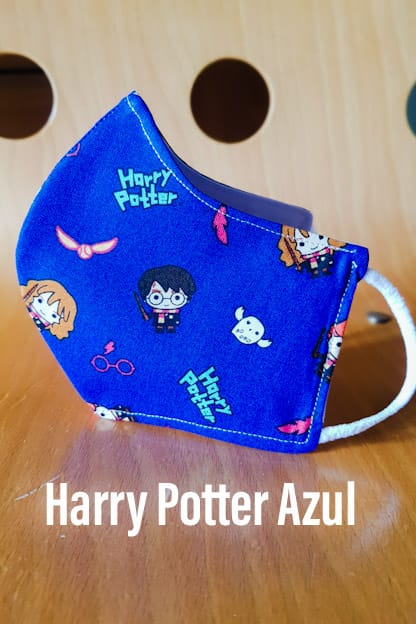 Mascarilla Harry Potter Azul