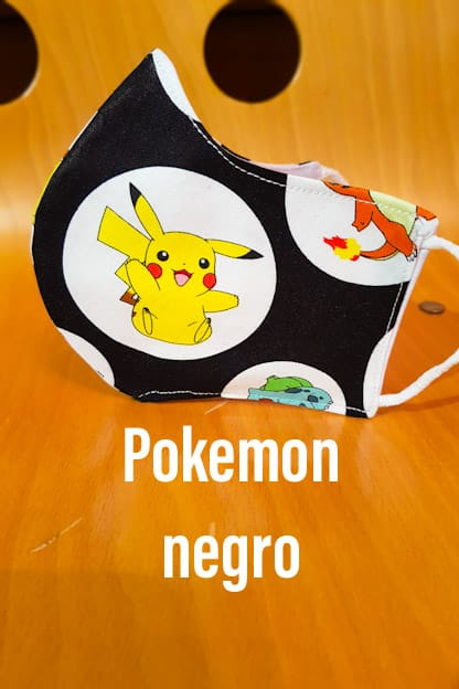 Mascarilla Pokemon negro