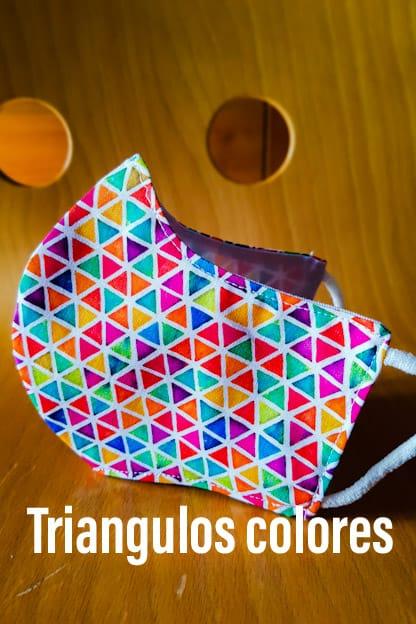 Mascarilla Triángulos colores