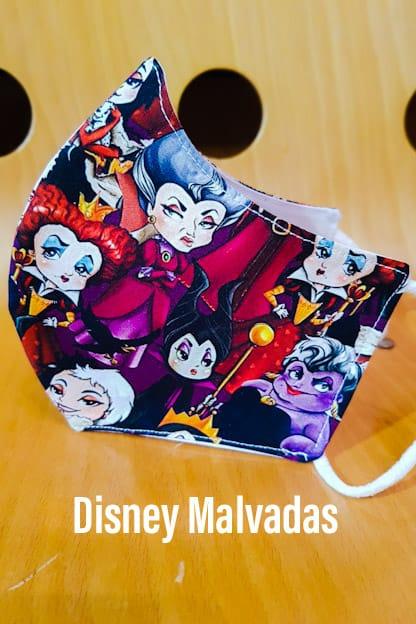 mascarilla Disney Malvadas