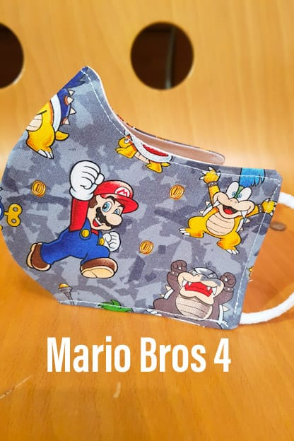 mascarilla Mario Bros 4