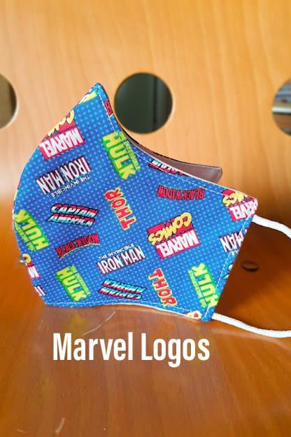 mascarilla Marvel Logos